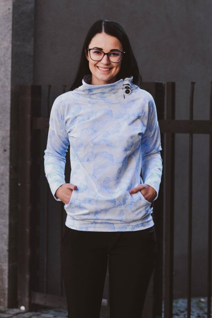 Mikina Zeena blue Flo
