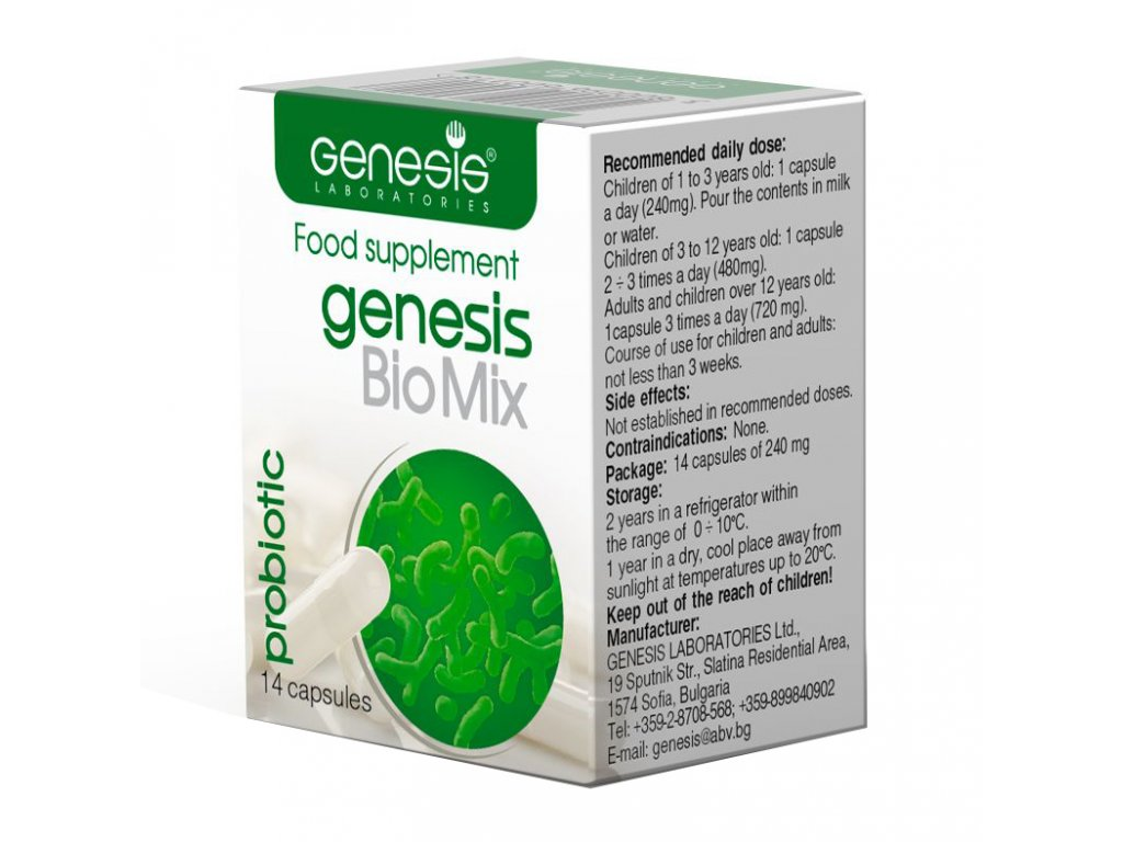 probiotika genesis bulgaricus Probiotic BioMix EN 14 cap 1