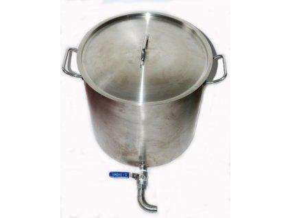 nerezovy hrnec na pasterizaci mleka 50 l bez poklicky s vypustnym kohoutem (1)
