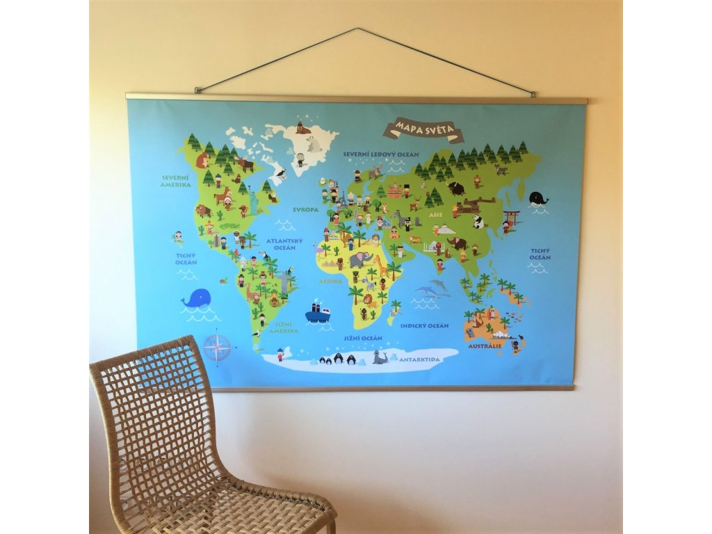 Mapa světa dětská