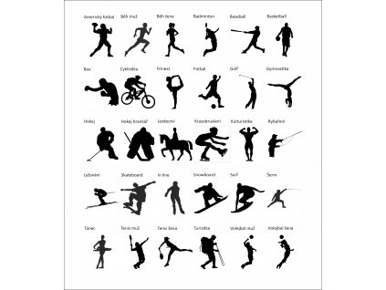 siluety sport 20 cm