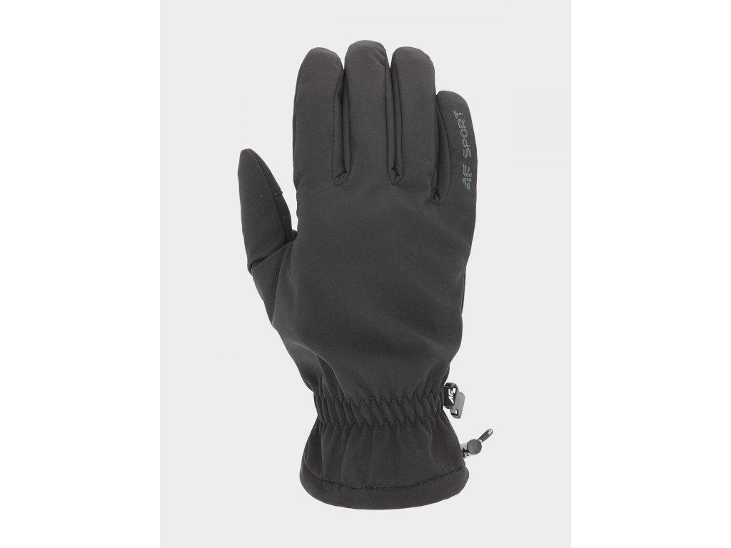 100370 softshellove rukavice 4f reu105 cerne