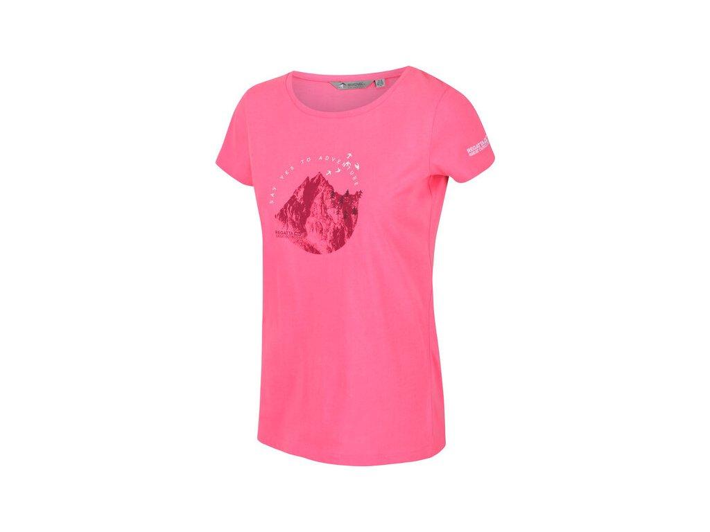 Dámské tričko RWT208 REGATTA Breezed Růžové