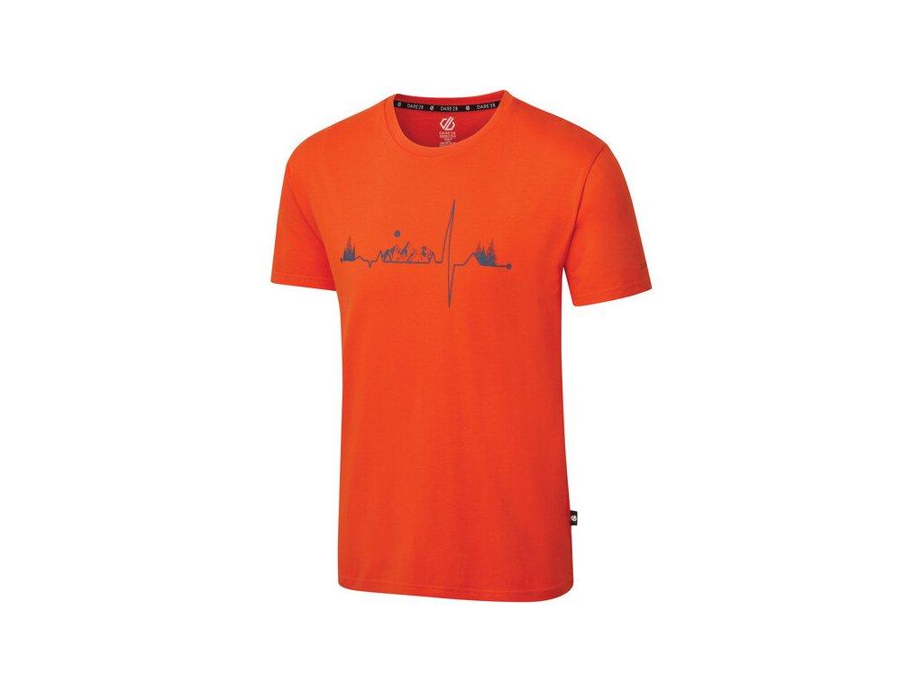 Pánské tričko Dare2B DMT523 Differentiate Oranžové