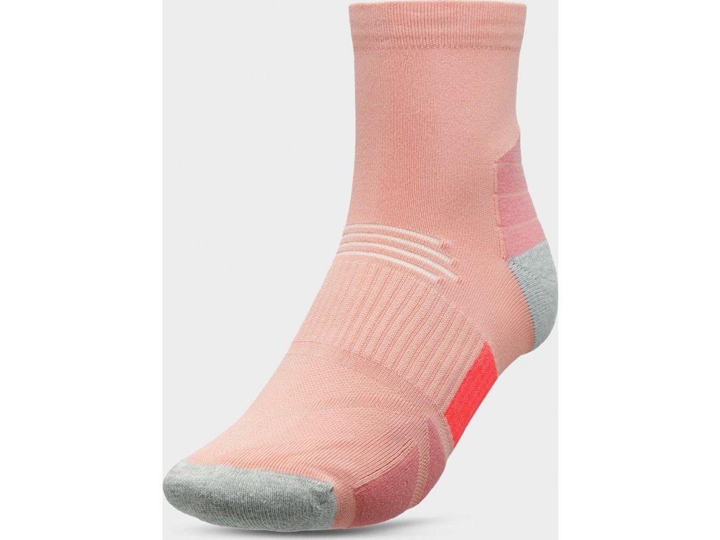 100886 damske sportovni ponozky 4f sod208 ruzove