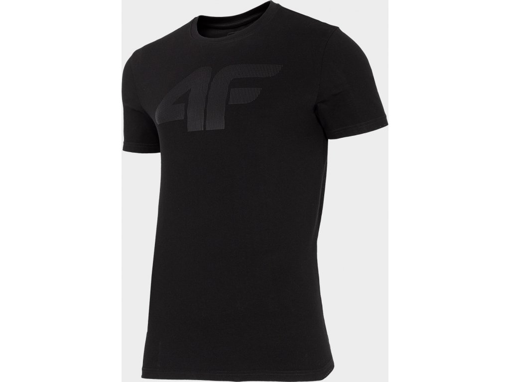 Pánské bavlněné tričko TSM302 Černé_černé
