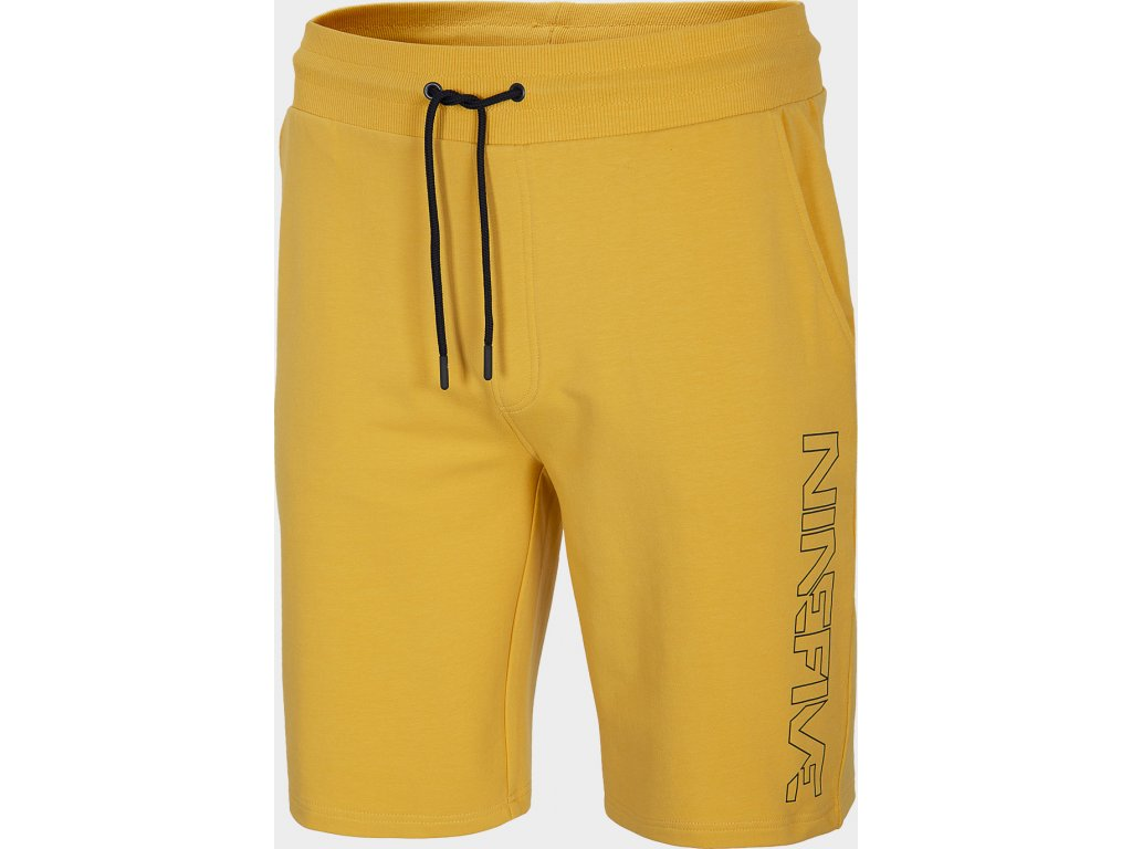 Pánské teplákové kraťasy 4F SKMD209 žluté