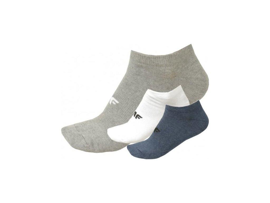 Pánské ponožky 4F SOM301A Modré, Šedé, Bílé