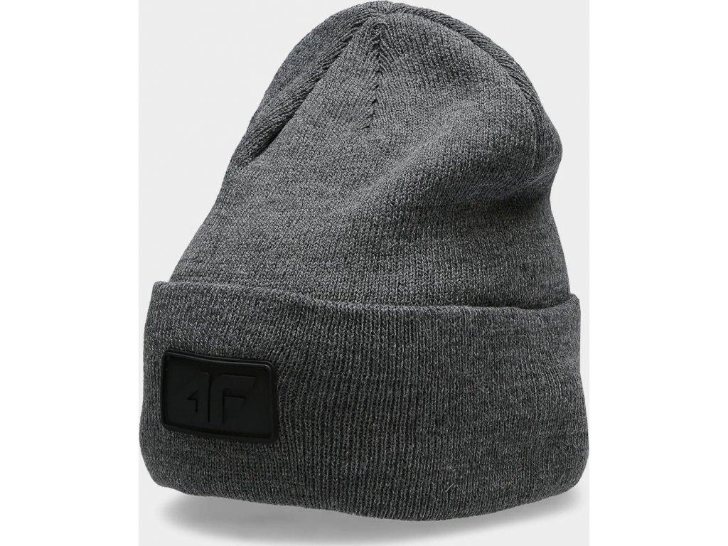 Unisex zimní čepice 4F CAU212 Tmavě šedá