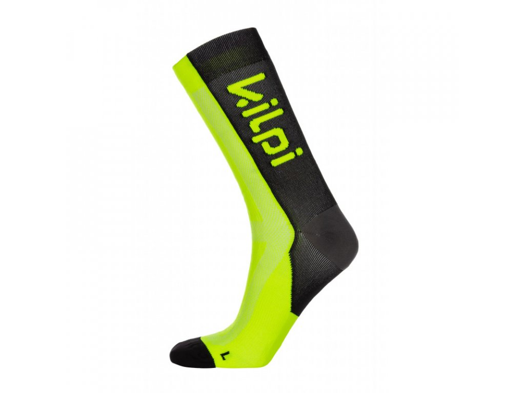 Unisex kompresní ponožky Levi-u žlutá - Kilpi
