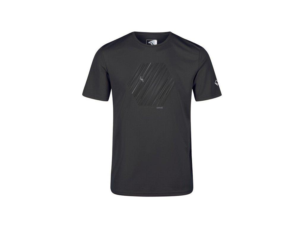 Pánské funkční tričko RMT216 Fingal V 61I tmavě šedé