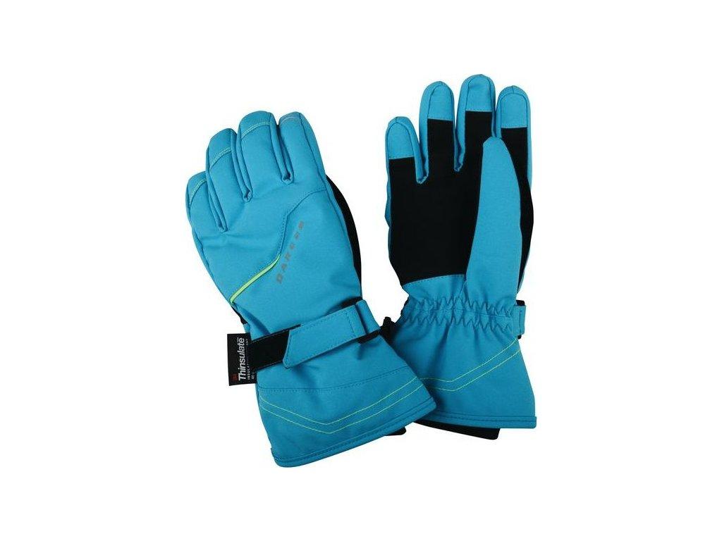 Dětské lyžařské rukavice Dare2B DBG300 HANDFUL Fluro Blue