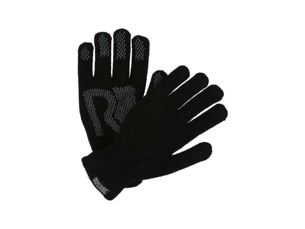 91715 pletene rukavice regatta rug006 brevis gloves cerna