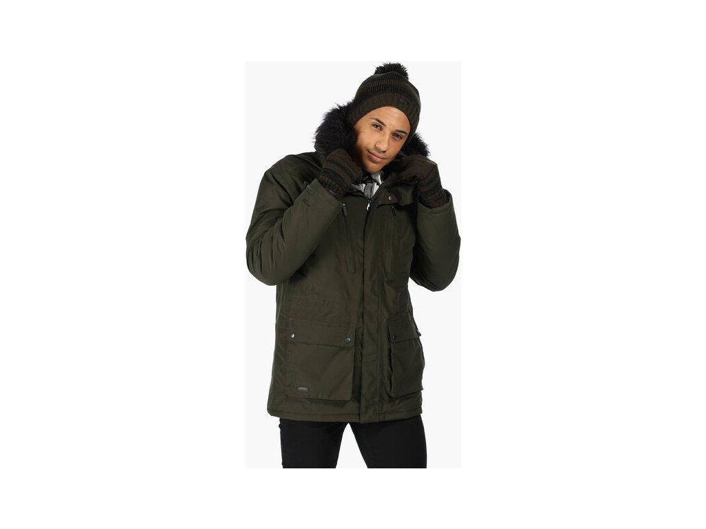 Pánská zimní bunda Regatta RMP235 SALINGER Khaki 4
