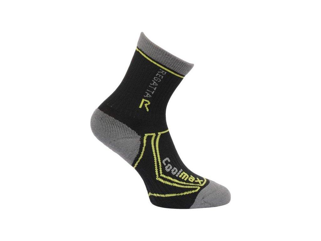 Dětské funkční ponožky RKH034 REGATTA  TrekTrail Černé