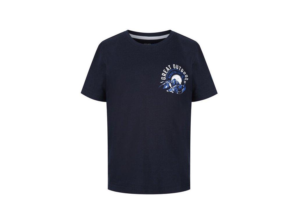 Dětské tričko REGATTA RKT091 Bosley II Tmavě modré