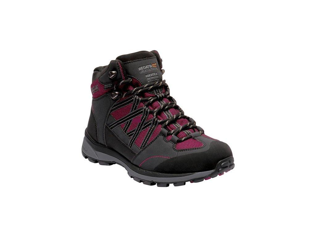 Dámské boty REGATTA RWF539  Samaris Md II Tmavě šedé/Červené