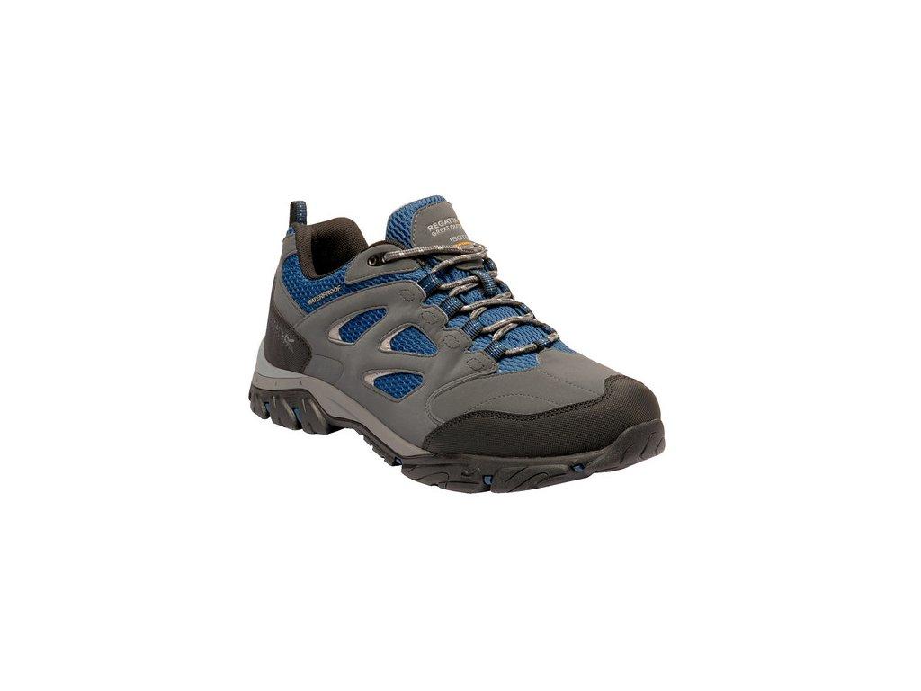 Pánská outdooorová obuv Regatta RMF572 Holcombe IEP Low Šedá Modrá
