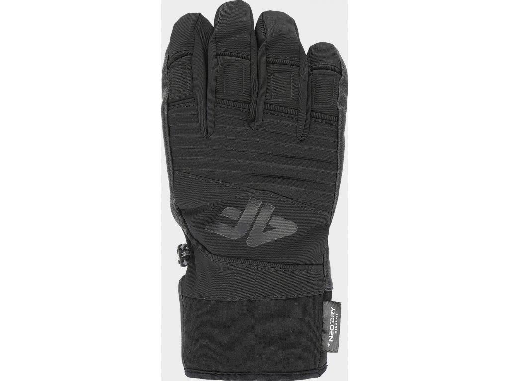 97526 panske lyzarske rukavice 4f rem250 cerne
