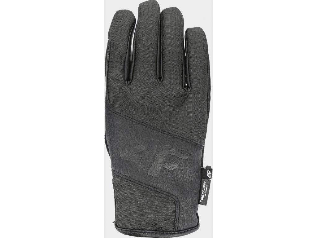 97613 panske snowboardove rukavice 4f rem251 cerna