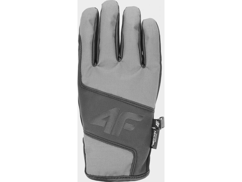 97616 panske snowboardove rukavice 4f rem251 sede