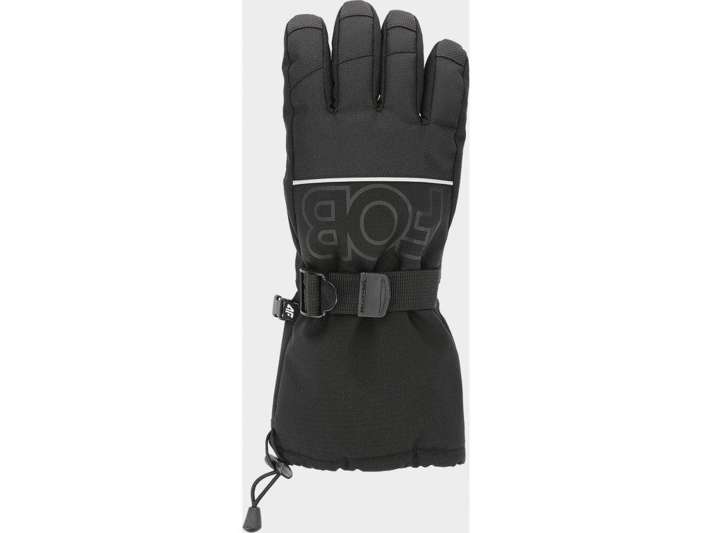 97619 panske snowboardove rukavice 4f rem253 cerne