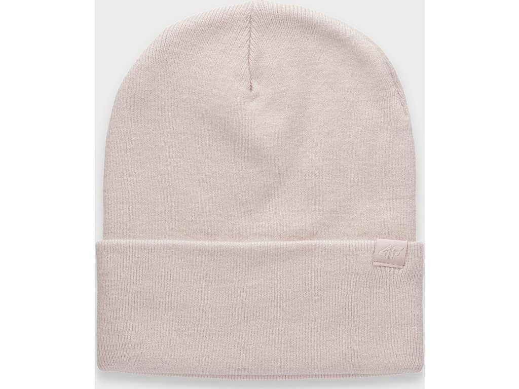 Dámská zimní čepice 4F CAD301 Světle růžová