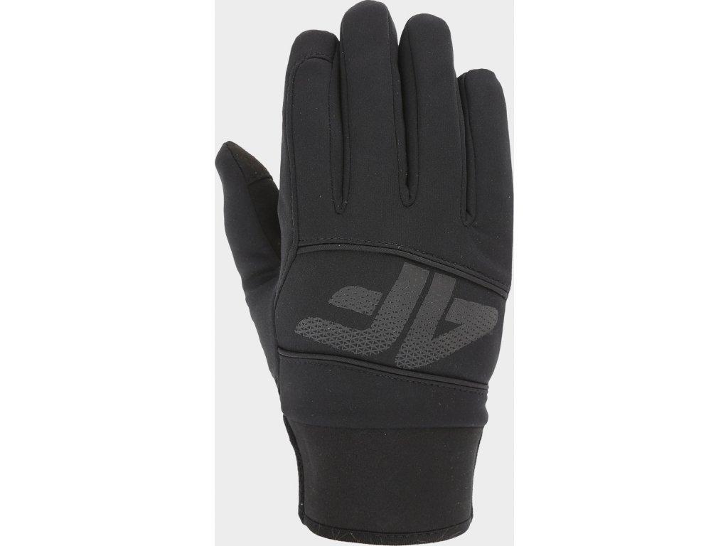 Softshellové rukavice 4F REU104 Černé