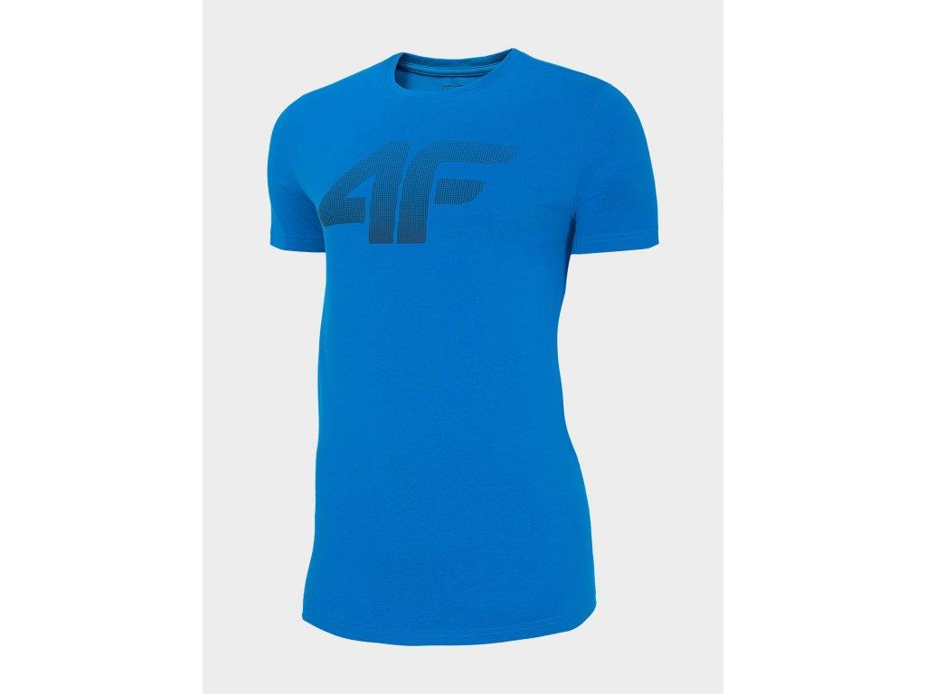 Pánské bavlněné tričko 4F TSM302 Modré 01