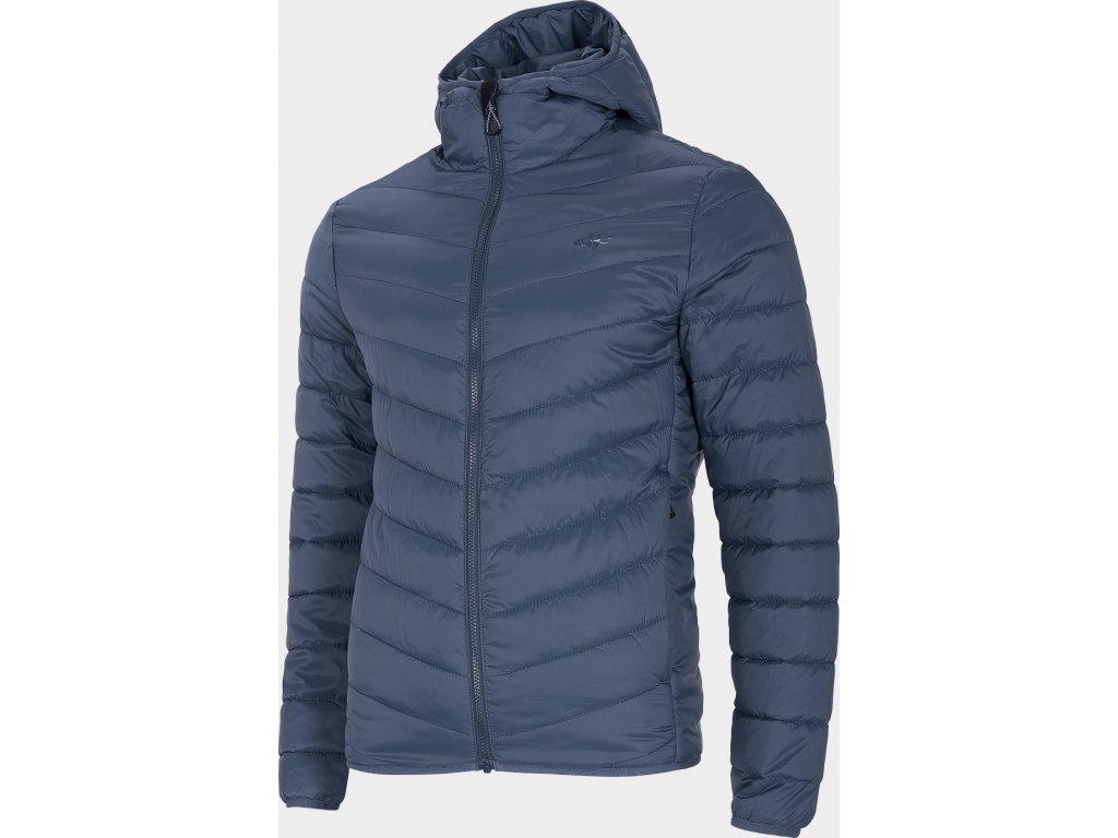 Pánská péřová bunda 4F KUMP301 Tmavě modrá