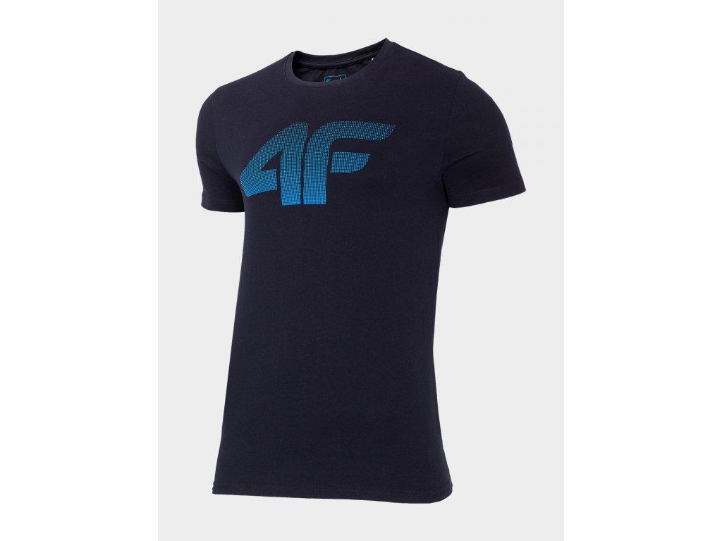 Pánské bavlněné tričko TSM302 Tmavě modré
