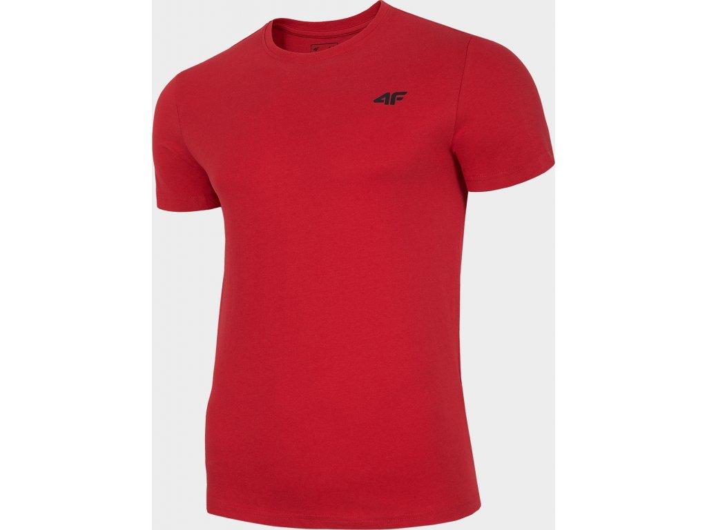 Pánské bavlněné tričko 4F TSM300 Červené