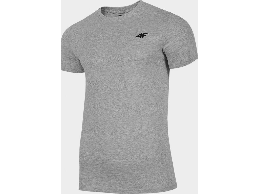 Pánské bavlněné tričko 4F TSM300 Šedé