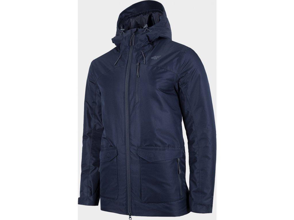 Pánská městská bunda 4F KUM006 Tmavě modrá