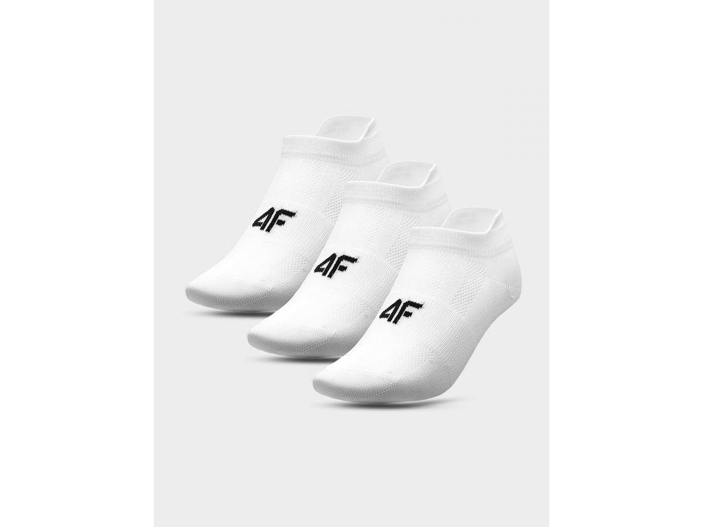 portovní ponožky 4F SSOM213 Bílé (3 páry)