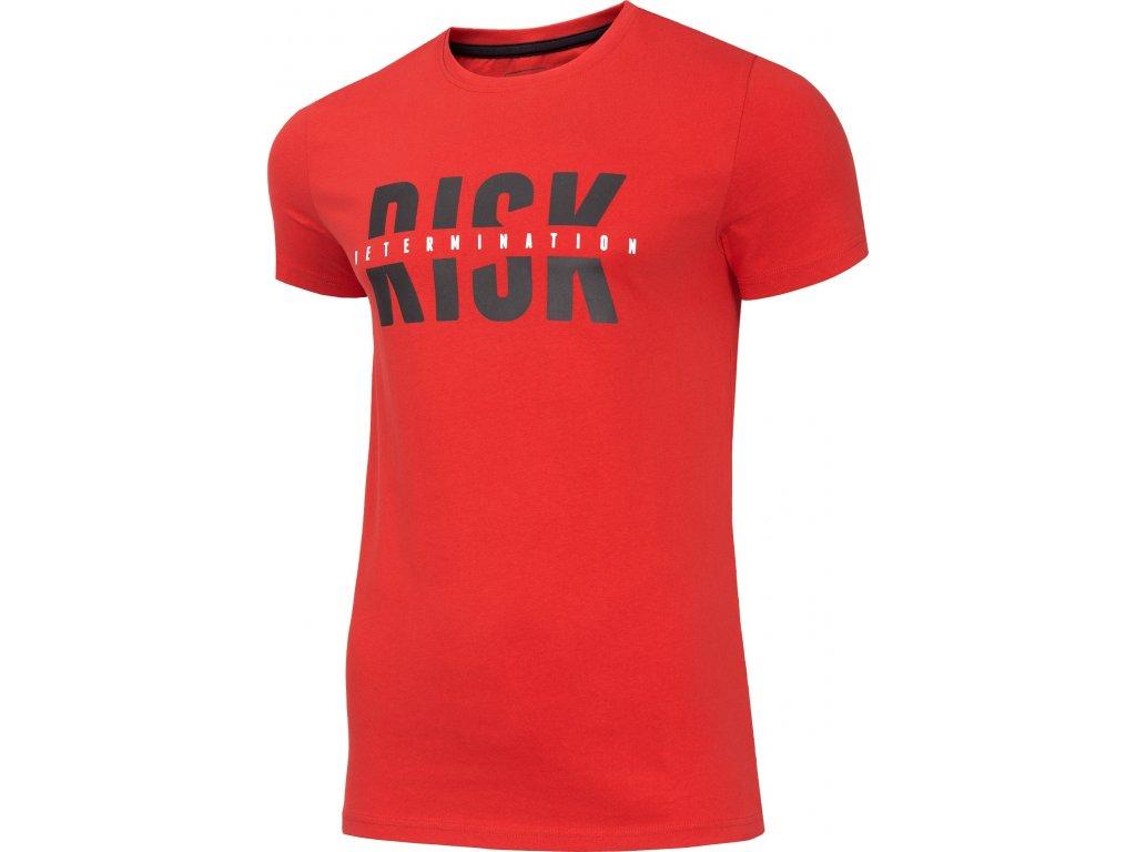 Pánské bavlněné tričko 4F TSM008 Červené