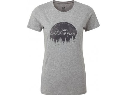 Dámské tričko Dare2B DWT516 Ease Of Mind Tee Šedé