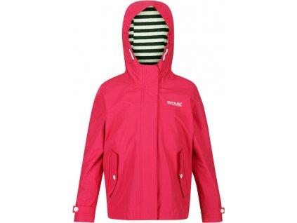 Dívčí nepromokavá bunda Regatta RKW239 Bibiana Růžová