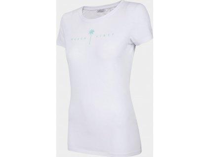 Dámské bavlněné tričko Outhorn TSD601 Bílé