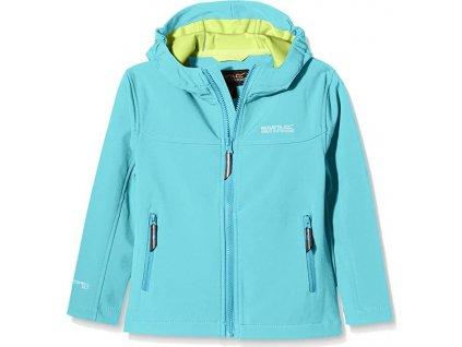 Dětská softshellová bunda REGATTA RKL030 Tyson II AtollBl/LimZ modrá