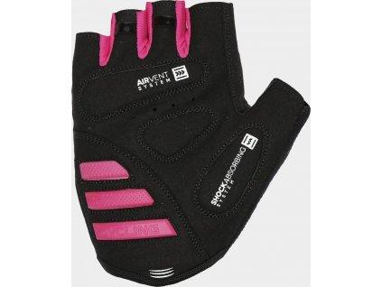 Cyklistické rukavičky unisex 4F RRU204 fuchsiové