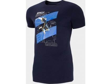 Pánské tričko 4F TSM224 Tmavě modré