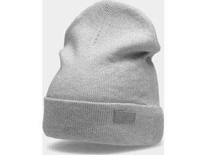 Dámská zimní čepice 4F CAD210 Světle šedá