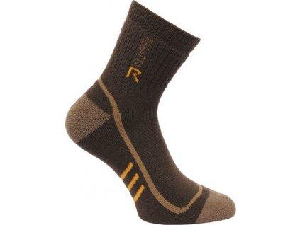 Pánské ponožky Regatta 3Season TrekTrail Iron Hnědé
