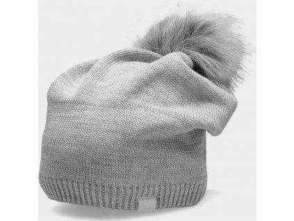 Dámská zimní čepice CAD156 Světle šedá