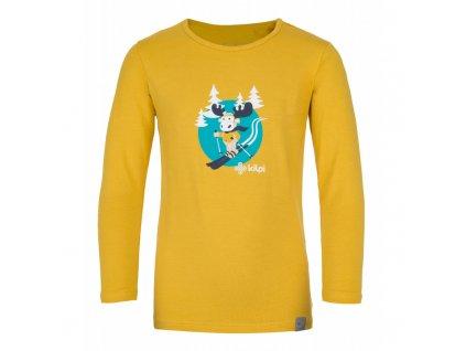 Dětské bavlněné tričko Lero-j žlutá - Kilpi