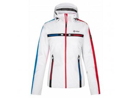 Dámská lyžařská bunda Hattori-w bílá (NADMĚRNÁ VELIKOST)