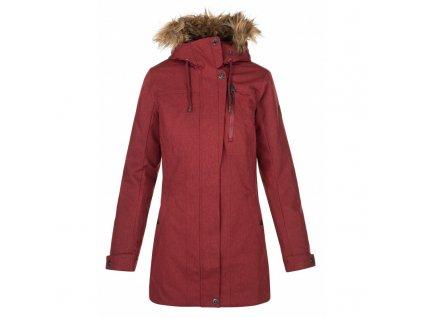 Dámský zimní kabát Peru-w tmavě červená (NADMĚRNÁ VELIKOST)