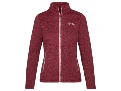 Dámský fleecový svetr Regin-w tmavě červená
