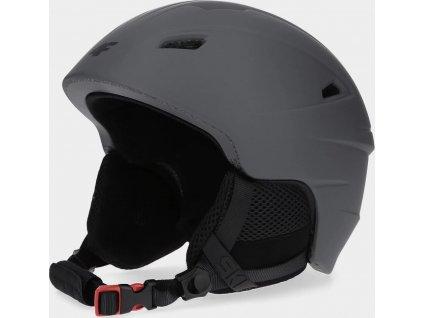 Pánská lyžařská helma 4F KSM350 Šedá